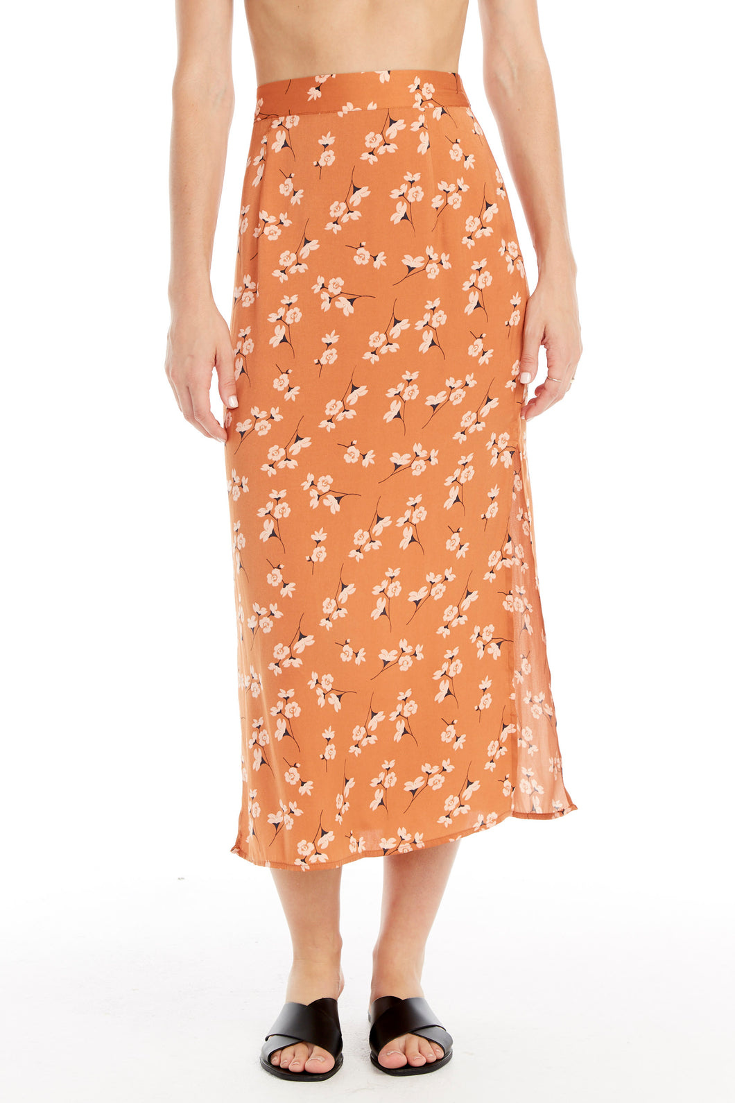 Clay Floral Print Skirt