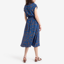 Load image into Gallery viewer, Royal Blue Floral Wrap Dress