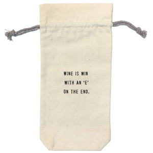Wine is Win Wine Bag