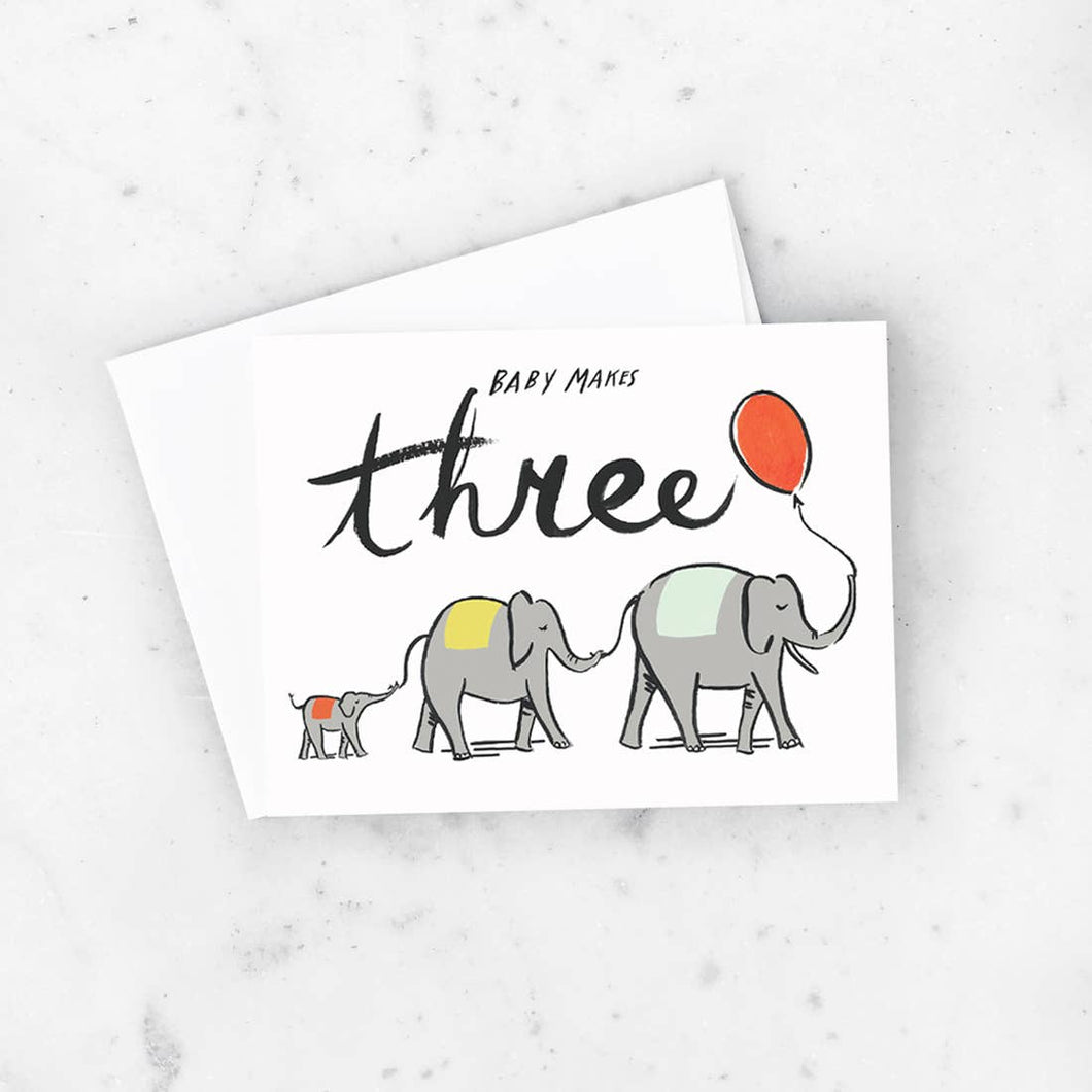 Baby Makes 3 Card