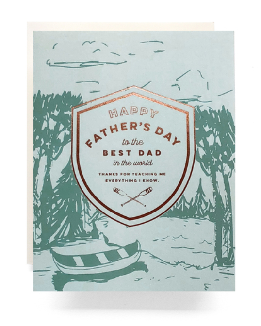 Best Dad In the World Card