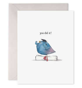 You Did It Bird Card