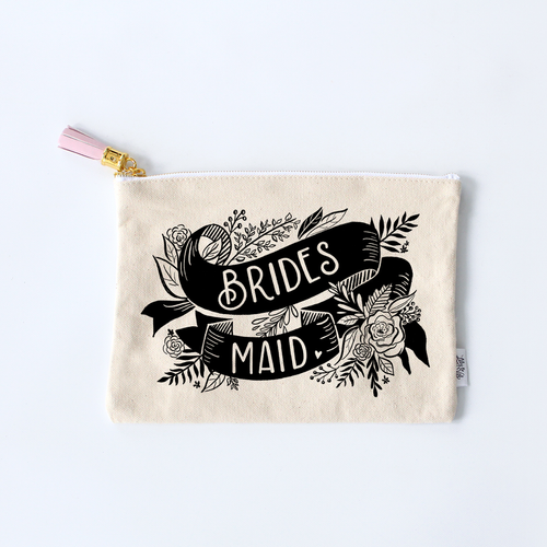 Bridesmaid Zippered Pouch
