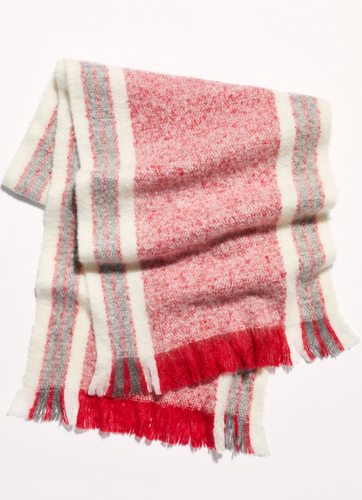 Brush Racer Striped Scarf