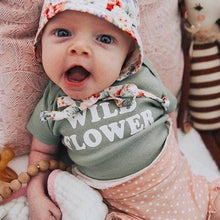Load image into Gallery viewer, Wild Flower Baby Onesie Long Sleeve