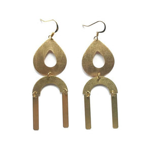 Arc Drop Statement Earrings