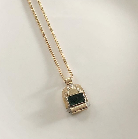 Emerald Sol Necklace