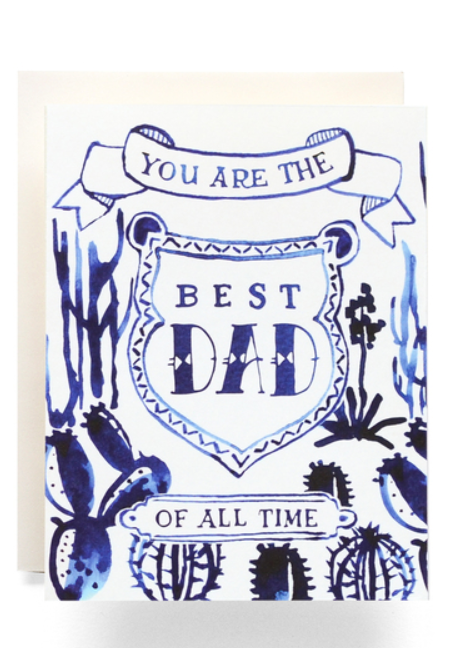 Cactus Best Dad Card