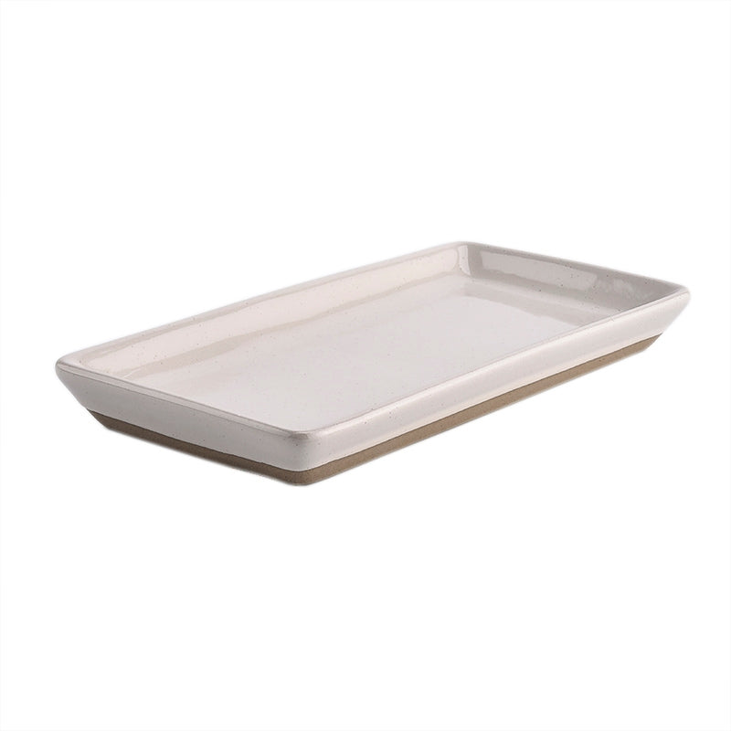 Cream Speckled Ceramic Tray