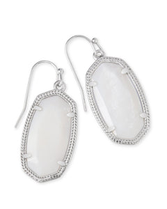 Dani Drop Earring in Silver - 3 different stone options