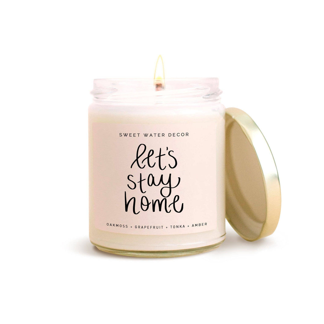 Let's Stay Home Soy Candle