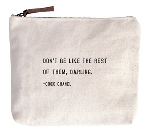 Don't Be Like the Rest Canvas Bag