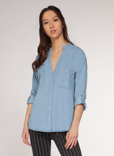 Blue Wash Utility Shirt
