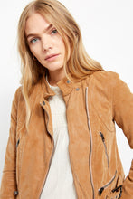 Load image into Gallery viewer, Fenix Vegan Moto Jacket in Camel