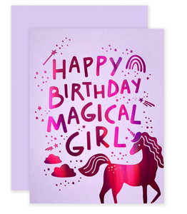 Happy Birthday Magical Girl Card