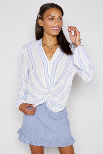 High Tide Striped Blouse