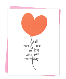 I Fall More In Love Card