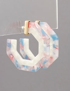 Hexagon Acrylic Earrings