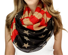 Load image into Gallery viewer, Vintage American flag scarf