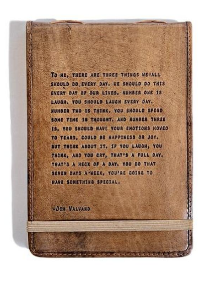 Jim Valvano Leather Journal