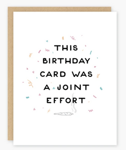 Joint Effort Card