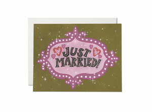 Just Married Vegas Card