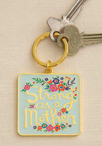 Strong as a Mother Keychain