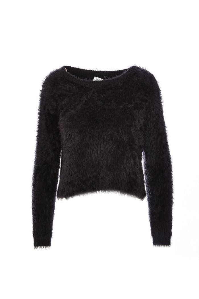 Black Kari Furry Sweater
