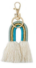 Load image into Gallery viewer, Macrame Rainbow Keyrings