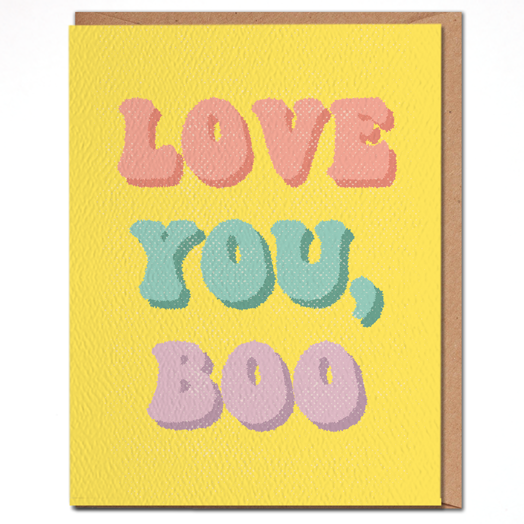 Love You, Boo Card