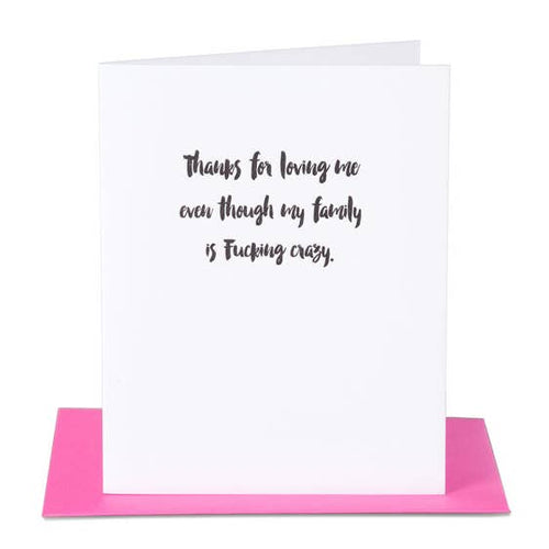 Loving Me Crazy Family Card