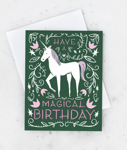 Magical Unicorn Card
