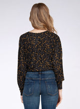 Load image into Gallery viewer, Marigold Floral Wrap Top