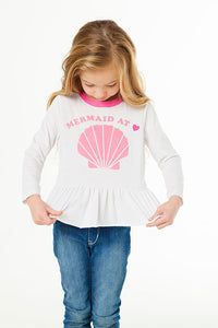 Mermaid At Heart Kids Shirt