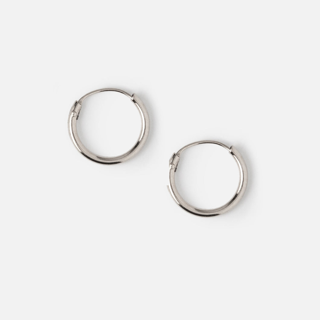 Micro Hoop Earrings in Gold or Silver