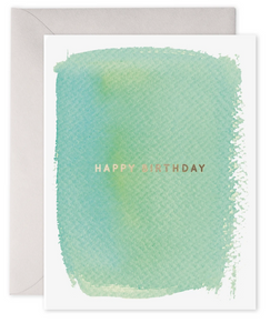 Mint Happy Birthday Card