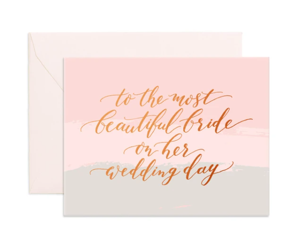 Most Beautiful Bride Card