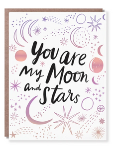 You Are My Moon Card