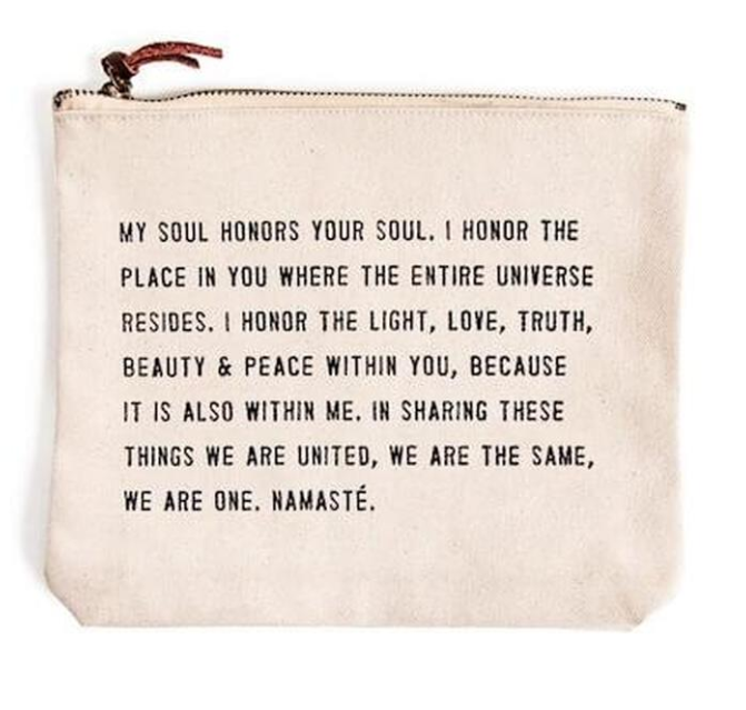 My Soul Honors Your Soul Canvas Bag