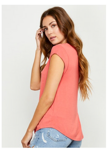 Coral Nora Tee