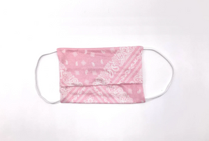 Youth Mask Package of 2 - Blue Bandana, Pink Bandana & Grey