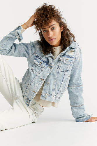Light Wash Rumors Denim Jacket