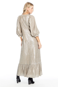 Sequin Wren Maxi Dress