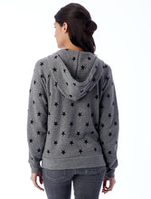 Load image into Gallery viewer, Eco Grey Stars Adrian Hoodie