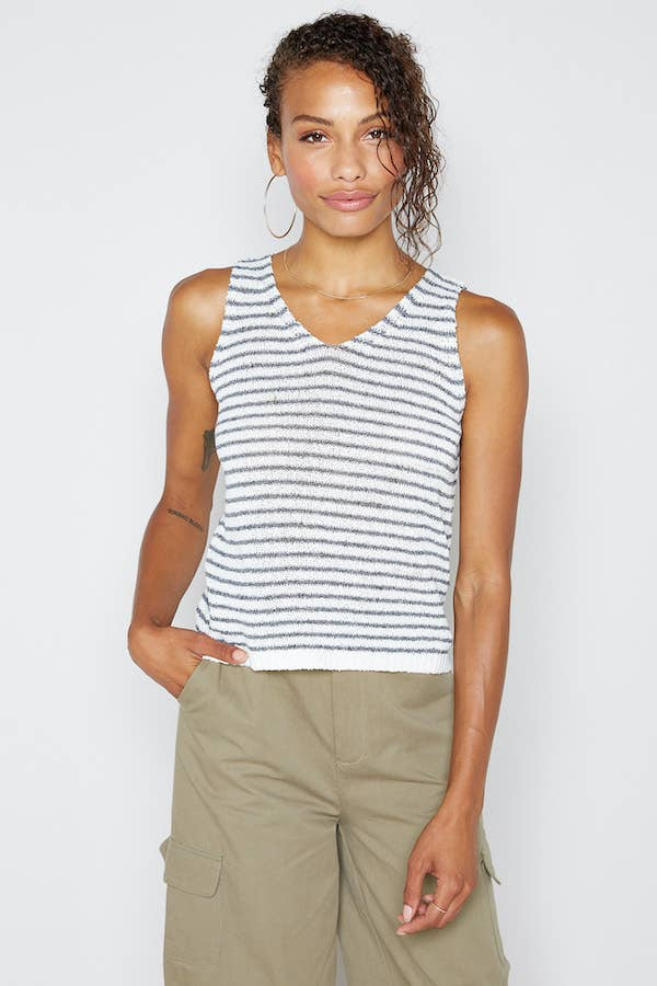 Centro Knit Striped Tank
