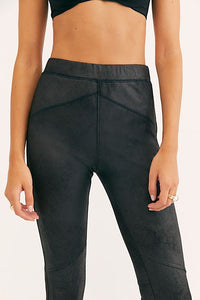 Midnight Vegan Suede Legging