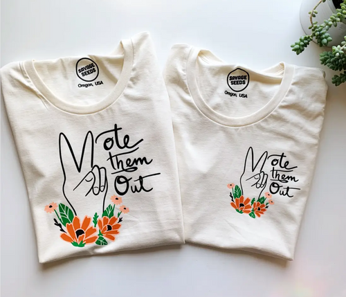 Vote Them Out Tee Pocket Graphic