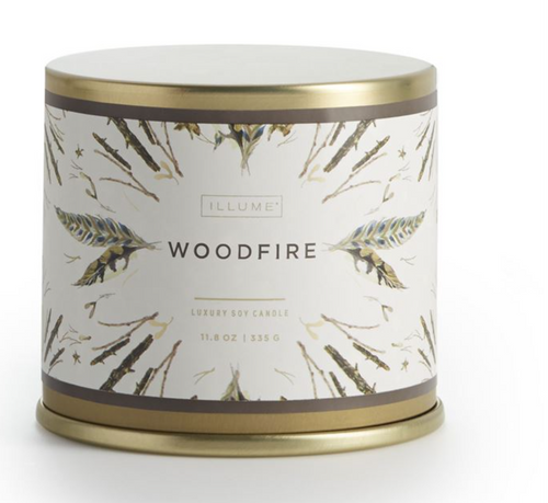 Woodfire Large Tin Candle