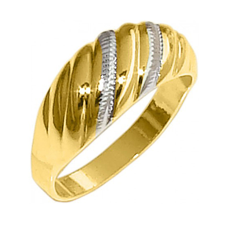 Two Tone Gold & Silver Ring