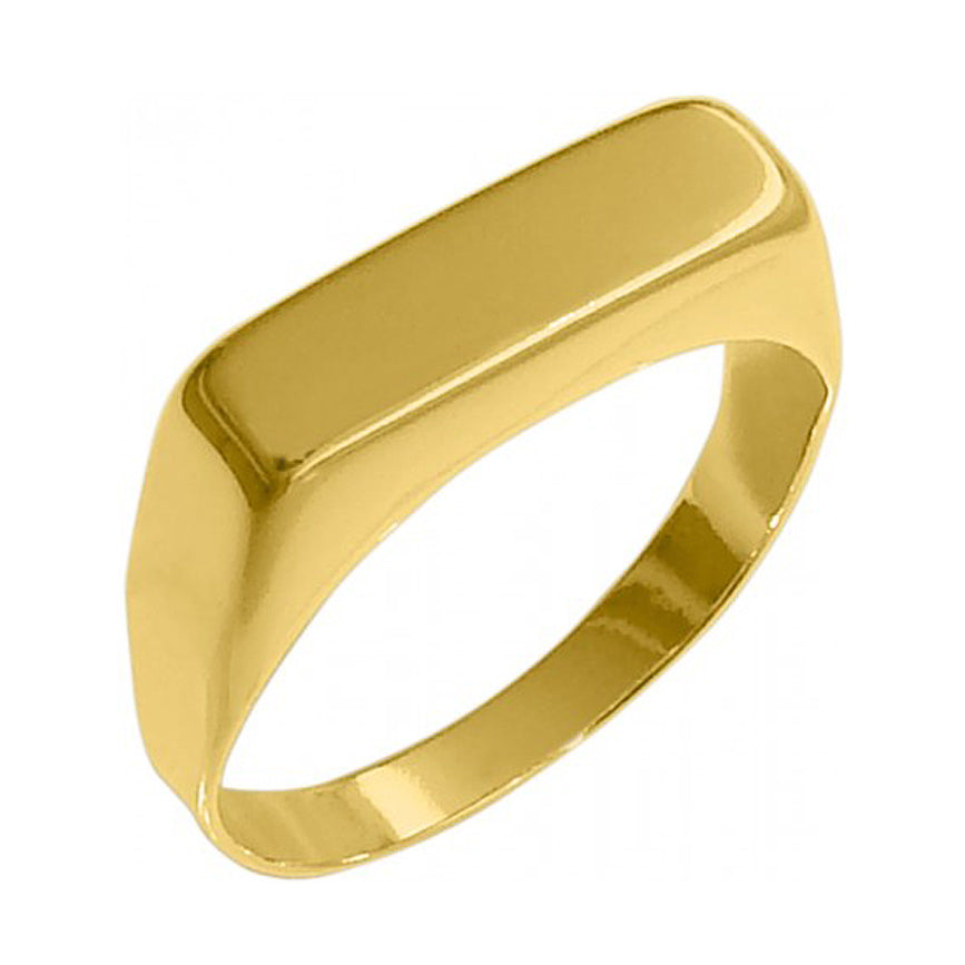 Delicate Signet Ring 18k Gold Plated